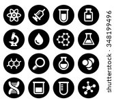 chemical icons set | Shutterstock . vector #348199496