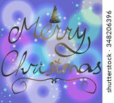 merry christmas neon background ... | Shutterstock .eps vector #348206396