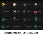 abstract line logo collection.... | Shutterstock .eps vector #348207635