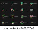 abstract line logo collection.... | Shutterstock .eps vector #348207662