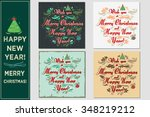 wish you a merry christmas and... | Shutterstock .eps vector #348219212
