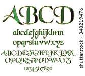 decorative font   Shutterstock .eps vector #348219476