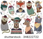 Hipster Animals Vector Set