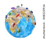 mailboxes on the globe | Shutterstock . vector #348223916