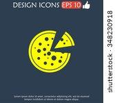 pizza web icon. flat design... | Shutterstock . vector #348230918