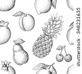 vector seamless pattern with... | Shutterstock .eps vector #348231635
