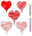Hearts Scribble