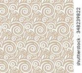 ornate beige pattern   Shutterstock .eps vector #348239822