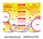 tri fold brochure template... | Shutterstock .eps vector #348241292