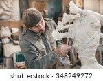 sculptor man         reating... | Shutterstock . vector #348249272