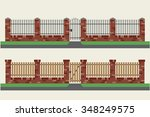 Brick Fences With Wooden And...