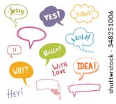 color speech bubbles set with... | Shutterstock .eps vector #348251006