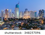 Jakarta Downtown Skyline With...