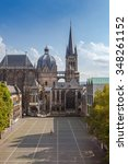 Small photo of cathedral of aachen (UNESCO World Heritage) at summer, germany