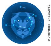 stylized icons of zodiac signs... | Shutterstock .eps vector #348262952