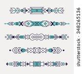 vector set of decorative ethnic ... | Shutterstock .eps vector #348265136