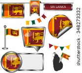 vector glossy icons of flag of... | Shutterstock .eps vector #348273332