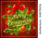 vector christmas frame with... | Shutterstock .eps vector #348278156