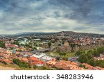 cloudy day in tbilisi  the... | Shutterstock . vector #348283946