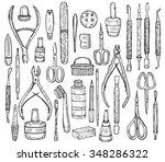 big set of manicure equipment... | Shutterstock .eps vector #348286322