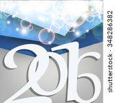 card for the new 2016 christmas ... | Shutterstock .eps vector #348286382