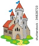 ancient medieval castle  ... | Shutterstock .eps vector #34828723