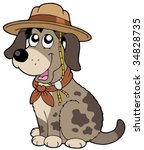 Friendly Dog In Scout Hat  ...