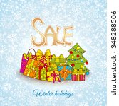 christmas sale design template. ... | Shutterstock .eps vector #348288506