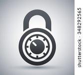 vector combination lock icon | Shutterstock .eps vector #348292565