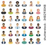 people icons   set of thirty... | Shutterstock .eps vector #348293048