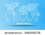 universal design vector 4 | Shutterstock .eps vector #348308258