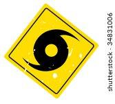 hurricane warning sign on web... | Shutterstock .eps vector #34831006