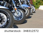 Motorcycles Parked On A Sunny...