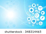 vector background health care... | Shutterstock .eps vector #348314465