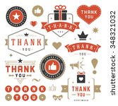 thank you labels and badges... | Shutterstock .eps vector #348321032