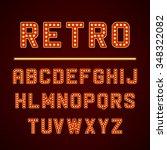 vector design retro signboard... | Shutterstock .eps vector #348322082