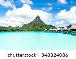 french polynesia  bora bora and ... | Shutterstock . vector #348324086