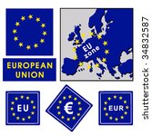 signs of the eu zone | Shutterstock .eps vector #34832587