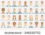 set of avatar icons. | Shutterstock .eps vector #348330752