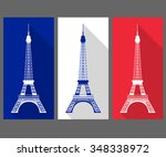 the eiffel tower in the colors... | Shutterstock .eps vector #348338972