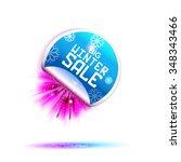 winter sale sticker with pink...   Shutterstock .eps vector #348343466