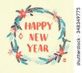 vector illustration  festive... | Shutterstock .eps vector #348349775