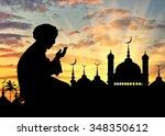 concept of religion islam.... | Shutterstock . vector #348350612