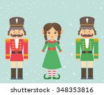 nutcracker red and green and