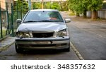 damaged car after the accident... | Shutterstock . vector #348357632