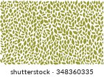 green on white leaves pattern | Shutterstock .eps vector #348360335