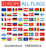 flags of europe   full vector... | Shutterstock .eps vector #348364616