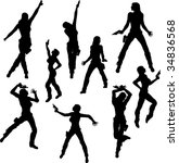 gun girl dancers | Shutterstock .eps vector #34836568