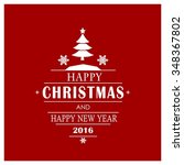 merry christmas card  stylized... | Shutterstock .eps vector #348367802