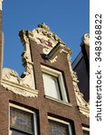 Small photo of Stylish fa�§ade with original windows in Amsterdam, Netherlands